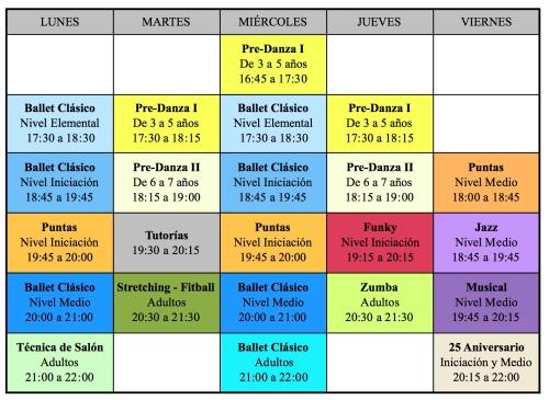 Horarios curso 2013/ 2014